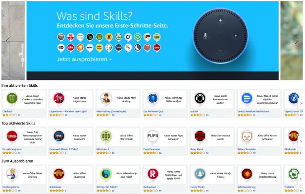 Screenshot Skills Amazon