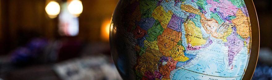 Globus, Hintergrund unscharf